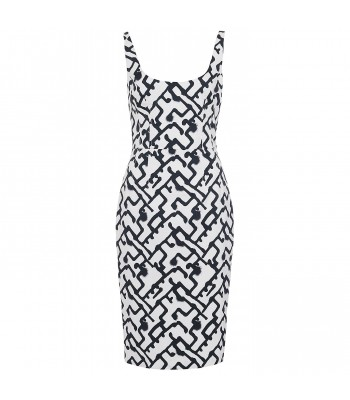 French Connection Downtown Grid Strappy Dress