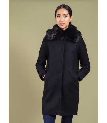 Darling Maddie Cocoon Coat (Black)