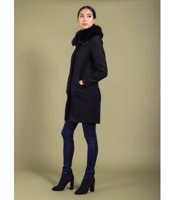 Darling Maddie Cocoon Coat (Black)