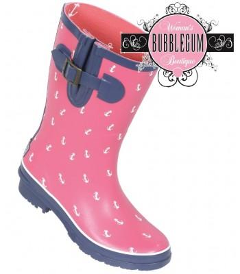 Brakeburn Short Anchor Welly (pink)