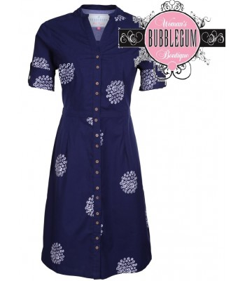 Brakeburn Polka Shirt Dress