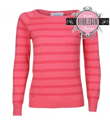 Brakeburn Stripe Knitted Jumper (Coral)