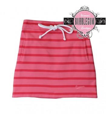 Brakeburn Stripe Skirt (Coral)