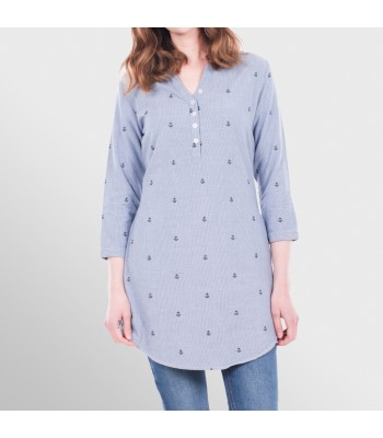 Brakeburn Anchor Dobby Shirt Dress