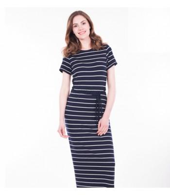 Brakeburn Stripe Short Sleeve Maxi Dress