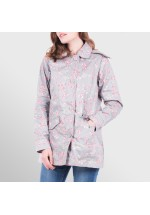 Brakeburn Bird Blossom Button Up Mac Grey