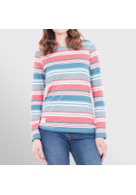 Brakeburn Multi Stripe Long Sleeve Tee