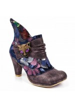 Irregular Choice Miaow Cat Ankle Boots (Purple)