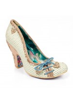 Irregular Choice Flexi Lexi Glitter Shoes (Mint/Multi)