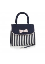 Ruby Shoo Banju Bag (Navy Stripe)