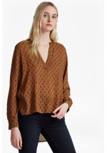 French Connection Rossine Voile Stepped Back Shirt