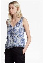 French Connection Antonia Lace Sleeveless Top