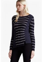 French Connection Striped Cable Knit Jumper
