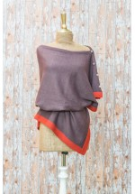 Powder Belle Poncho (Plum / Tangerine)