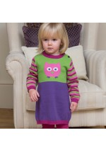 Kite Owl Knitted Dress