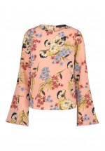 Sugarhill Boutique Eliana Hand Drawn Floral Top (Pink)