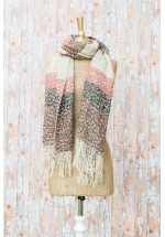 Powder Julia Scarf (Pale Pink / Grey)