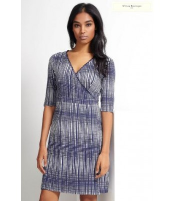 Uttam Boutique Grid Print Wrap Dress