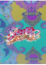 Powder Leopard Brooch