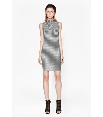 French Connection Liquorice Lines Sleeveless Dress