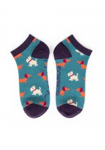 Powder New Mixed Dogs Trainer Socks (Teal)