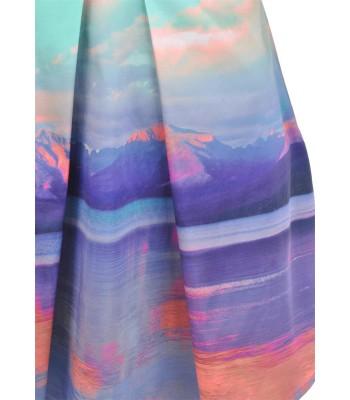 Yumi Mountain Print Dress