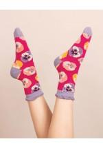 Powder Pansy Ankle Socks