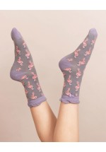 Powder Flamingo Ankle Socks