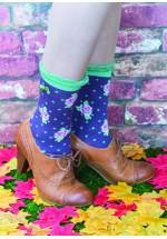 Powder Ankle Rose Socks (Plum)