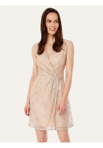 Uttam Boutique Metallic Lace Party Dress