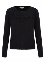 Uttam Boutique Lace Cardigan (black)