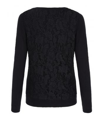 Uttam Boutique Lace Cardigan (black)