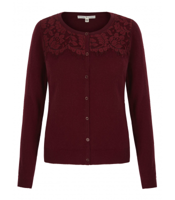 Uttam Boutique Lace Cardigan (raspberry)