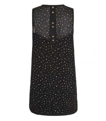 Yumi Gold Spot Swing Dress