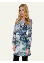 Yumi Mountain Print Tunic Dress
