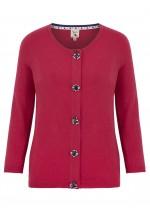 Yumi Rhinestone Embellished Cardigan (pink)