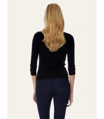 Yumi Rhinestone Embellished Cardigan (black)