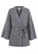 Yumi Lurex Kimono Cardigan (grey)