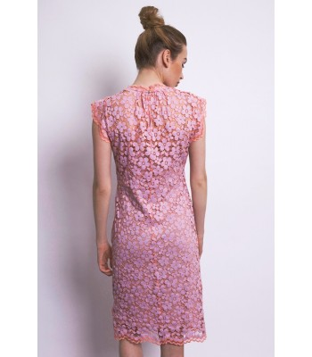 Traffic People A Little Bit Less Va Va Voom Dress (Lilac/Coral)