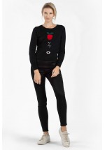 French Connection Apple of My Eye Knit / Jumper (Black Multi)
