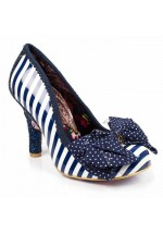 Irregular Choice Ascot Navy/White Stripe