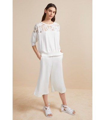 French Connection Salerno Knit Lace Jumper (Summer White)