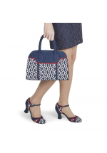 Ruby Shoo Jeraldine Navy Blue Heels and Cancun Bag Set - Bag at Half Price !!!