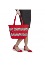 Ruby Shoo Lydia Red Low Heel Floral Shoes and Mijas Bag Set - Bag at Half Price !!!
