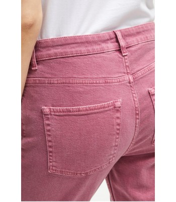 French Connection Antique Dye Relaxed Tapered Jeans (Light Baked Cherry)