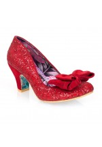 Irregular Choice Red Glitter Ban Joe