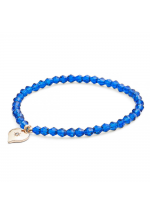 Lovett & Co Tiny Sparkle Bead Bracelet ( Blue )