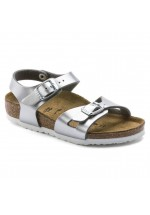 Birkenstock Rio Kids Sandals Narrow Fit ( Electric Metallic Silver )