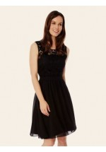 Uttam Boutique Embellished Lace Dress (black)