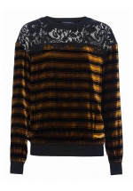 French Connection Emma Stripe Jumper (Black Multi)
